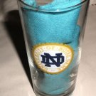 Notre Dame Fightin' Irish Tall 2 Side Logo Clear Glass Tumbler