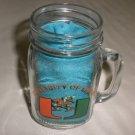 University Of Miami Hurricanes Clear Glass Mason Jar Mug