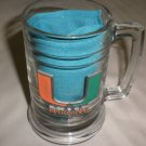 University Of Miami Hurricanes Clear Glass Beer Mug