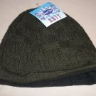 Leisure Time Green Cable Knit Fleece Lined Beanie Cap OSFM #042649061097