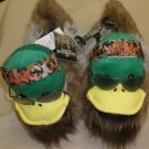 A & E Duck Dynasty Mens Uncle Si Duck Slippers Size:Medium 9-10