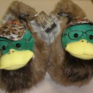 A & E Duck Dynasty Mens Uncle Si Duck Slippers Size:Large / 11-12