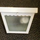 Sunlink 1 Bulb White Exterior Porch Light #LF-120300-008