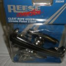 Reese Chrome Plated Cleat Rope Hooks Set 2 #20024R