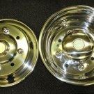 "Low Profile Chevy Kodiak 19.5"" 8 Lug 4 Hand Hold Wheel Simulator Set #SS1958-4UL"