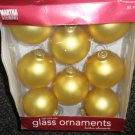 "Martha Stewart 8 - 2 3/5"" Heirloom Adornments Gold Glass Ornaments #KM93169"
