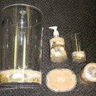 HDC Seashell Design Home Collection 5 Piece Bathroom Set #Bath5P/34693