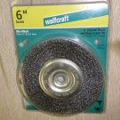"Wolfcraft 6"" Coarse Wire Wheel With 1/2"" & 5/8"" Bore #1421"