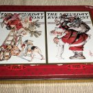U.S Playing Card Co. Santa Saturday Evening Post Playing Cards 2 Decks In Tin