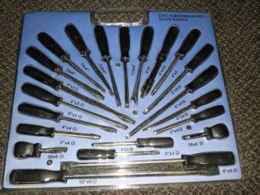 Camco 22 Piece Black Handle Screwdriver Set