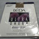LEDA Tahiti Ultra Sheer Reinforced Toe 1X-2X Queen Pantyhose 3 Pair #426