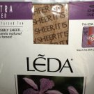 LEDA Tahiti Ultra Sheer Reinforced Toe 5X-6X EX EX Large Pantyhose 3 Pair #428