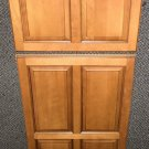 6 Panel Solid Wood Refrigerator Door Insert Set