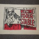 """Welcome To Our Stable Rug - Beige Size: 18"""" Wide X 27"""" Long"""