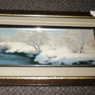 "Winter By The Creek 3D Framed Artwork Size: 21"" Wide X 11 1/2"" Long"
