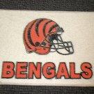 """Cincinnati Bengals Football Helmet Rug - Cream  Size: 17"""" Wide X 27"""" Long"""