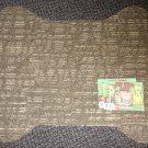 """Grits & Grins Dog Bone Pet Bowl Mat - Olive / Tan Color Size: 19"""" Wide X 23"""" Lon"""