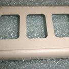"Odyssey Group 3 Gang Almond Switch Bezel Size: 7/8"" X 1 1/4"" #AH-BZL-3-8"