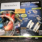 Newpoint Universal Printer Cable Kit #52301 UPC:797146034555