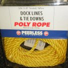 "Peerless Chain Co. Dock Lines & Tie Downs 3/8"" Twisted Poly Rope 50' #2804866"
