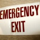 "RV Safety Decal ""EMERGENCY EXIT"" Size: 3 1/4"" x 2 1/8"" #GC0244"