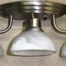 Gustafuson Brushed Nickel 3 Globe 12V Wall Light Fixture #oo2