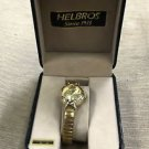 Helbros Ladies Gold Quartz Watch #01570011 UPC: 719281020125
