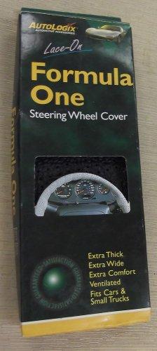 AutoLogic Black Lace-On Formula One Steering Wheel Cover #076040560446
