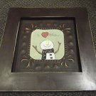 Thornberry Creek I Love Snow Brown Metal / Wood Picture #SQ-TBK09R