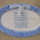 F.D.S Bless This Home Oval Ceramic Plate W/ Stand UPC:803422224456