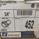 "Topoz #452 3/4"" Screw In Metal Connectors Pack 5 UPC:710534474306"