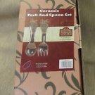 OBI Products Laurie Korsgaden Ceramic Fork And Spoon Set #HK023 UPC:008981131232
