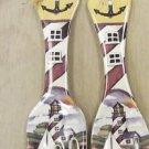 OBI Products Laurie Korsgaden Ceramic Fork And Spoon Set #HK018 UPC:008981131188