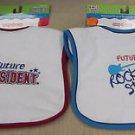Kids 2 Grow By Danara Boy's Easy Closure Baby Bibs 2 Pack #25073 25074