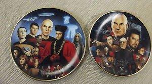 Hamilton Collection Star Trek Best Of Both Worlds & Encounter Mini Plates