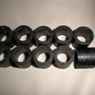 "Plastic 11/16"" Black Grommets/ Bushings / Spacers 3/4"" O.D 1/2"" I.D  Pack 10  #"