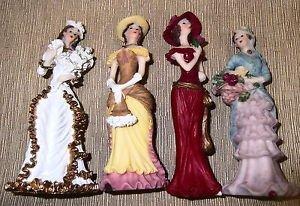 Rhode Island Classy Women Resin Figurines Set 4 #90-117