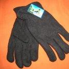 Polar Ice Black Fleece Fashion Winter Gloves  One Size  UPC:710534478687