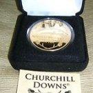 Highland Mint Kentucky Derby Churchill Downs 2010 24 Kt. Gold Plated Medallion