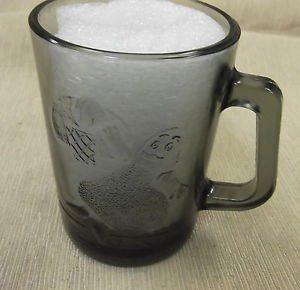 Mc Donald's Vintage Smoke Glass Grimace Playing Basketball Mug UPC:710534471909