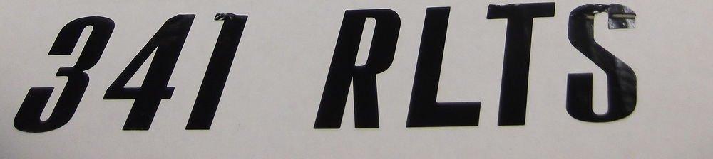 "Jayco RV Decal Black ""341 RLTS""  #0257994"