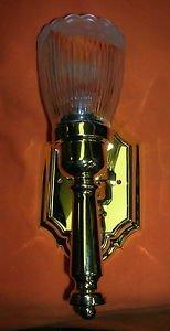 ITC 12V Polished Brass Light W/ Gustafuson 9047 Globe #38400S UPC:71053447914158