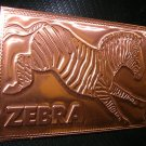 "Kopper Kard Co. ""Zebra"" Kopper Post Card UPC:710534483100"