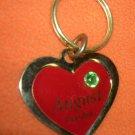 St. Evans Heart / August - Periodt Birthstone Key Chain  UPC:710534484510