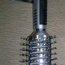 Icicles Silver / Black Hair Brush #1190-7 UPC:729193011906