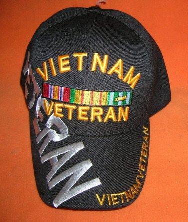 Cap America Black Vietnam Veteran Baseball Cap -Adjustable UPC:710534483919