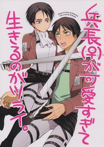 YAT45 Doujinshi Attack on Titan Shingeki no Kyojin Eren x Levi (fem) by TK-Brand