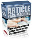 Article Page Machine