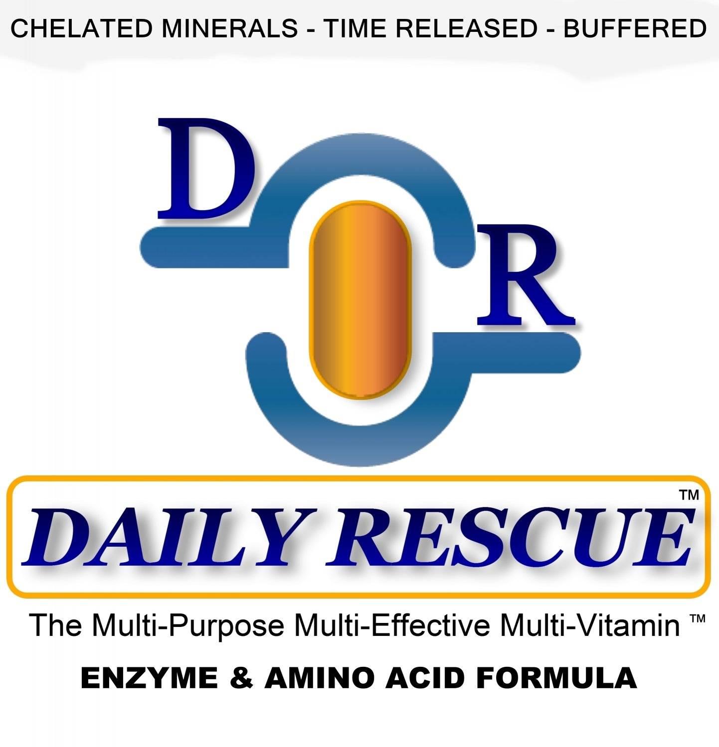 DAILY RESCUE � 90ct - Best / Advanced Multivitamin Supplement - Time Release with Enzymes +