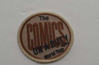 "NEW ""THE COMICS""  ON DUTY.COM  WORLD TOUR PATCH"